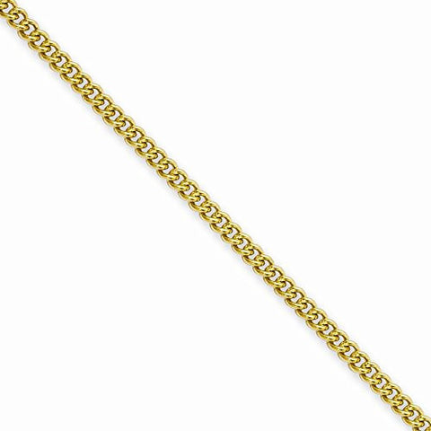 Stainless Steel IP Gold-plated 2.25mm 24in Round Curb Chain - shopvistar