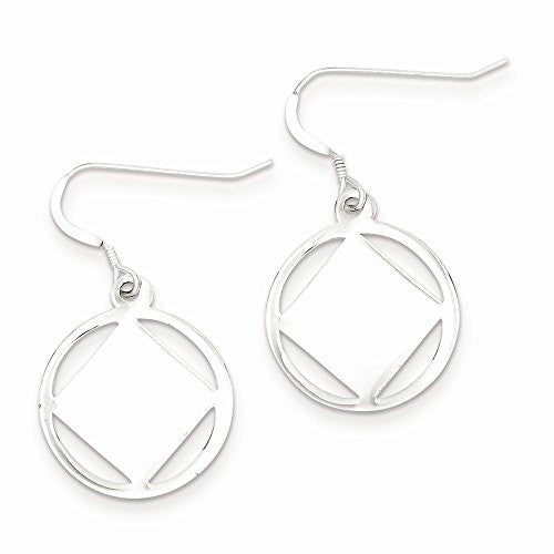 Sterling Silver Textured Square In A Circle Dangle Earrings, Best Quality Free Gift Box Satisfaction Guaranteed - shopvistar