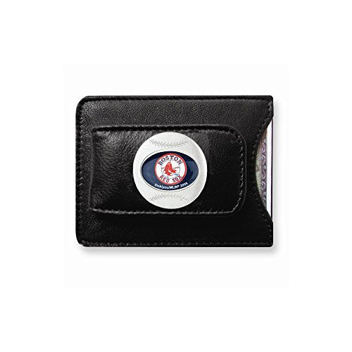 MLB Red Sox Leather Money Clip - shopvistar