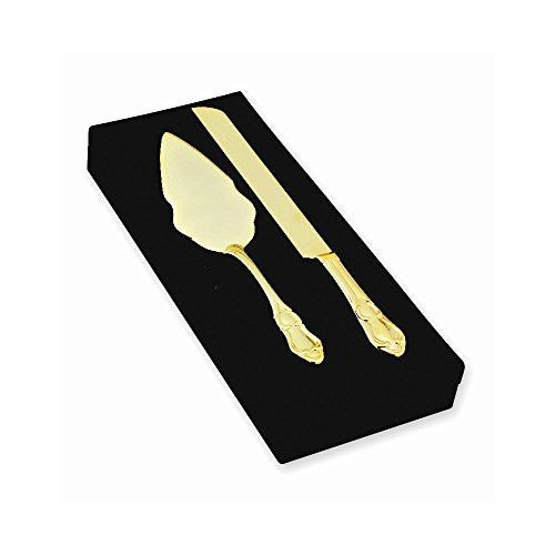 Gold-plated Knife and Server Set - shopvistar