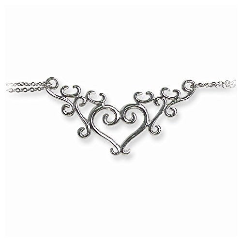 Back Belly Chains Vine Scrollwork Heart with Heart weight Small (Fits 24 t - shopvistar