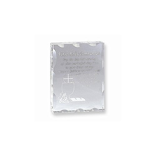 Optic Crystal First Holy Communion Plaque - shopvistar
