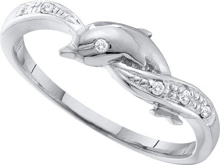 0.04ctw Diamond Dolphin Ring - shopvistar