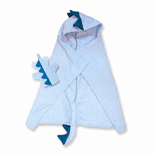 Dinosaur Hooded Cotton Terry Bath Towel - shopvistar