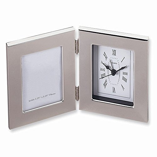 Silver-plated Frame and Alarm Clock - shopvistar