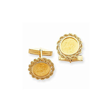 14k Men's Cuff Links - Blank, Best Quality Free Gift Box Satisfaction Guaranteed - shopvistar