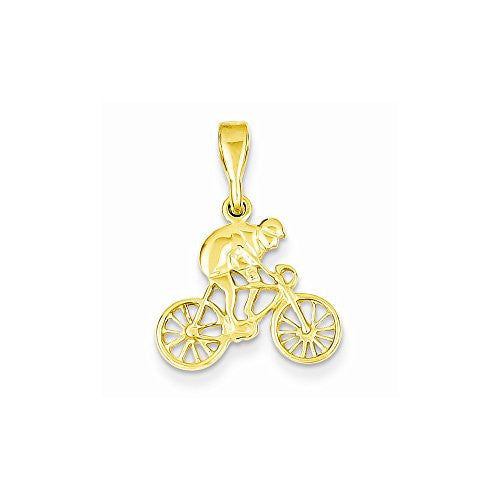 14k Cyclist Pendant, Best Quality Free Gift Box Satisfaction Guaranteed - shopvistar