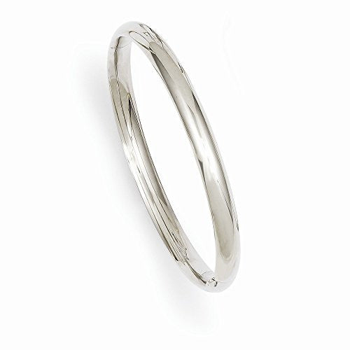 14k 3/16 White Gold Hinged Baby Bangle Bracelet, Best Quality Free Gift Box Satisfaction Guaranteed - shopvistar