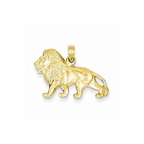 14k Lion Charm, Best Quality Free Gift Box Satisfaction Guaranteed - shopvistar