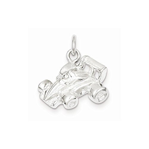 Sterling Silver Race Car Charm, Best Quality Free Gift Box Satisfaction Guaranteed - shopvistar