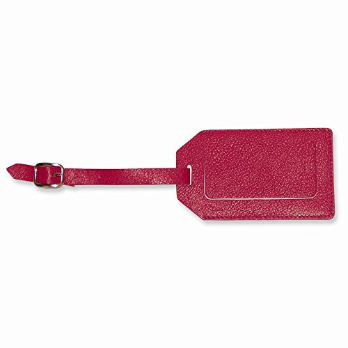 Pink Leather Luggage Tag - shopvistar