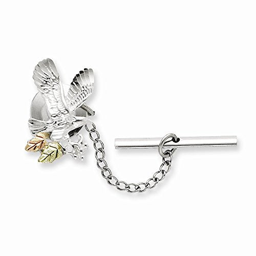 Sterling Silver & 12k Eagle Pin/tie Tack, Best Quality Free Gift Box Satisfaction Guaranteed - shopvistar