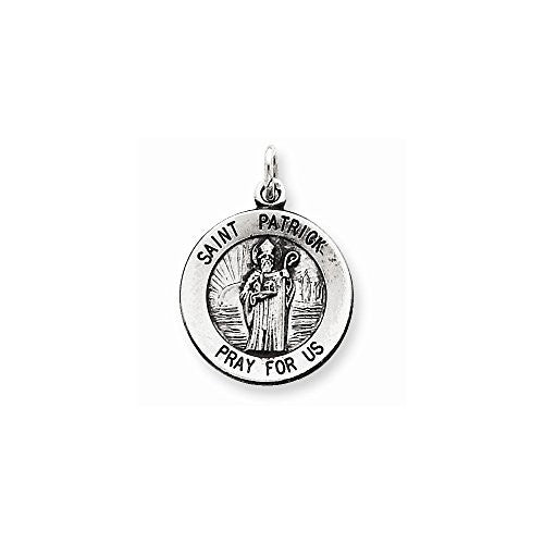 Sterling Silver Saint Patrick Medal, Best Quality Free Gift Box Satisfaction Guaranteed - shopvistar