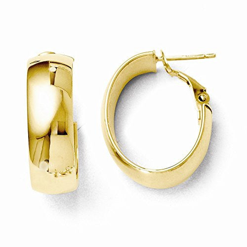 Leslies 14K Polished Hoop Earrings - shopvistar