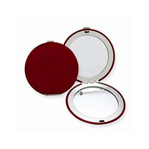 Red Finish Brushed Aluminum Compact Mirror - shopvistar
