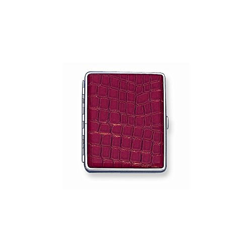 Faux Croco Covered (Holds 20-100mm) Cigarette/Card Case - shopvistar