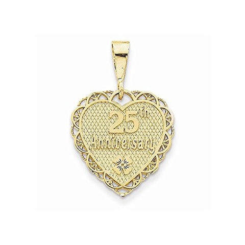 14k 25th Anniversary Charm, Best Quality Free Gift Box Satisfaction Guaranteed - shopvistar