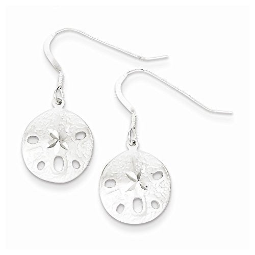Sterling Silver Sand Dollar Earrings, Best Quality Free Gift Box Satisfaction Guaranteed - shopvistar
