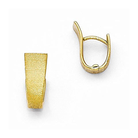 Leslies Sterling Silver Gold-plated Textured Hoop Earring - shopvistar