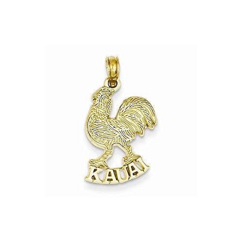 14k Kauai Rooster Pendant, Best Quality Free Gift Box Satisfaction Guaranteed - shopvistar