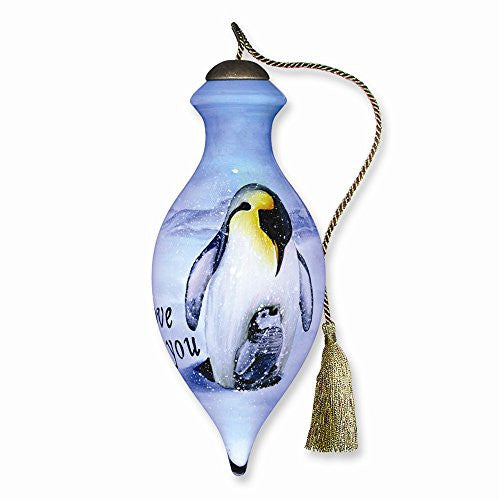 Love You Penguins Hand-painted 4in Ornament - shopvistar