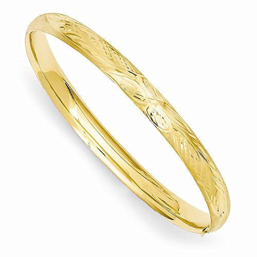 14k 3/16 Florentine Engraved Baby Bangle Bracelet, Best Quality Free Gift Box Satisfaction Guaranteed - shopvistar