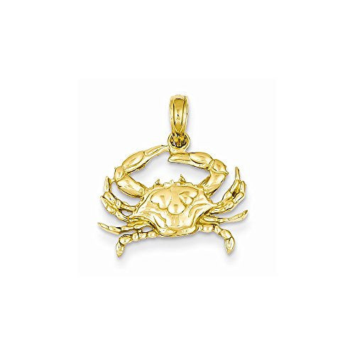 14k Blue Crab Pendant, Best Quality Free Gift Box Satisfaction Guaranteed - shopvistar