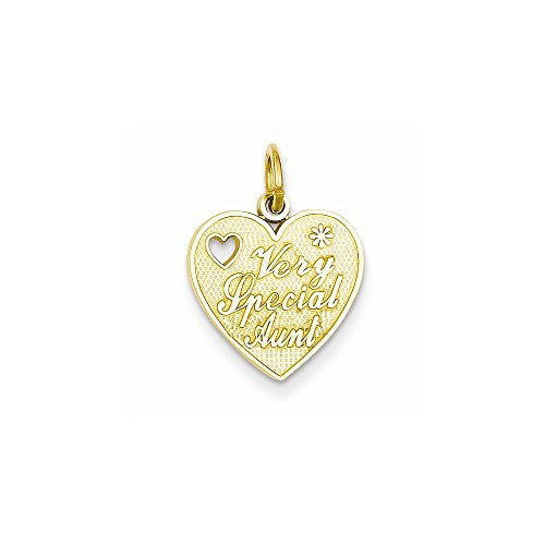 14k Very Special Aunt Charm, Best Quality Free Gift Box Satisfaction Guaranteed - shopvistar