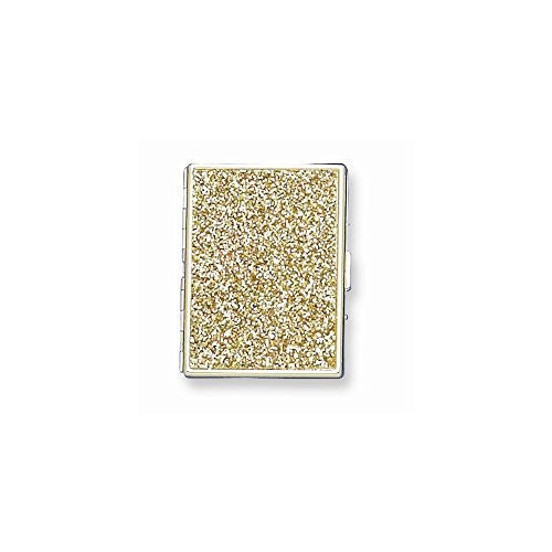 Brass-plated Glitter (Holds 9-100mm) Cigarette/Card Case - shopvistar