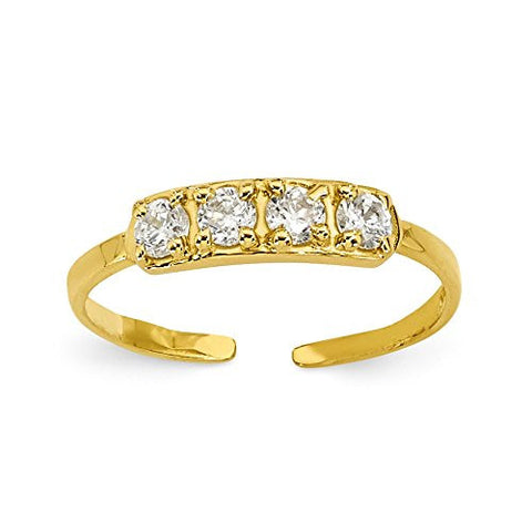 14k Cz Toe Ring, Best Quality Free Gift Box Satisfaction Guaranteed - shopvistar