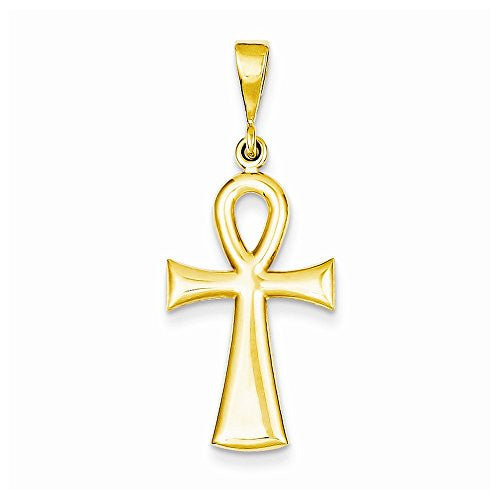 14k Egyptian Ankh Cross Pendant, Best Quality Free Gift Box Satisfaction Guaranteed - shopvistar