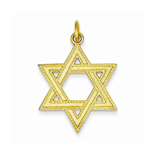 24k Gold-plated Sterling Silver Star Of David Pendant, Best Quality Free Gift Box Satisfaction Guaranteed - shopvistar