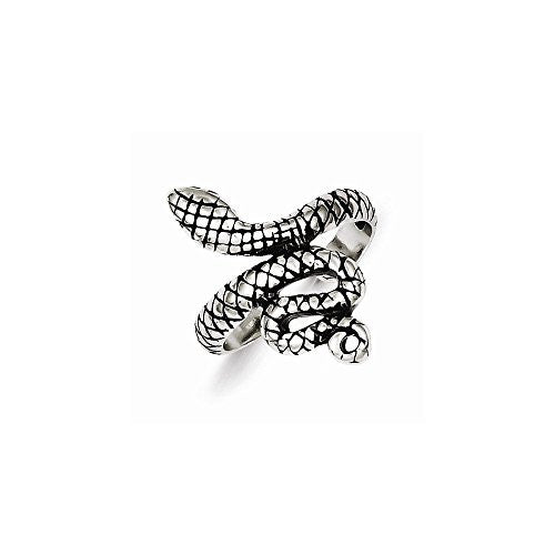 Sterling Silver Antiqued Snake Toe Ring, Best Quality Free Gift Box Satisfaction Guaranteed - shopvistar