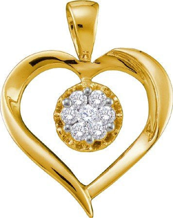 0.25ctw Diamond Heart Pendant - shopvistar