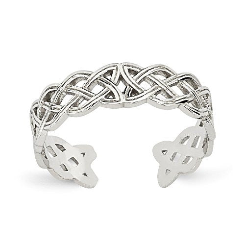 14k White Gold Celtic Knot Toe Ring, Best Quality Free Gift Box Satisfaction Guaranteed - shopvistar