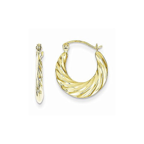 10k Fancy Small Hoop Earrings, Best Quality Free Gift Box Satisfaction Guaranteed - shopvistar