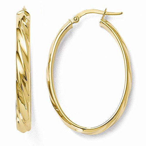 Leslie's 14k Polished Oval Hoop Earrings - shopvistar