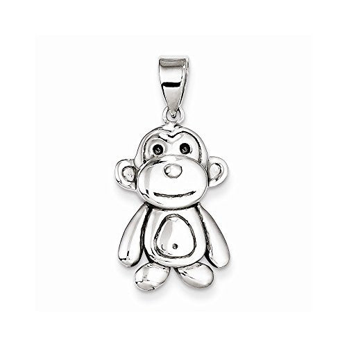Sterling Silver Monkey Pendant, Best Quality Free Gift Box Satisfaction Guaranteed - shopvistar
