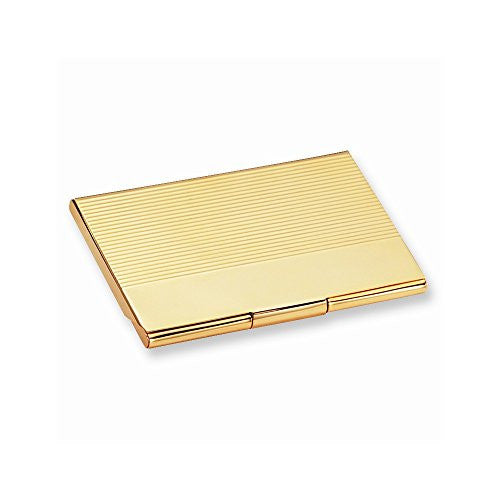 Gold-tone Business Card Case - shopvistar