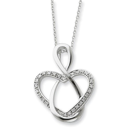 Sterling Silver & Cz Lifetime Friend 18in Necklace, Best Quality Free Gift Box Satisfaction Guaranteed - shopvistar
