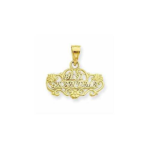 14k Best Grandma Pendant, Best Quality Free Gift Box Satisfaction Guaranteed - shopvistar
