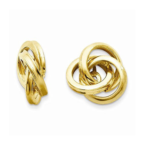 14k Polished Love Knot Earring Jackets, Best Quality Free Gift Box Satisfaction Guaranteed - shopvistar