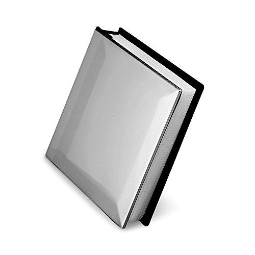 Pewter Finish Solid Cover (Holds 100 - 4x6 Photos) Photo Album - shopvistar