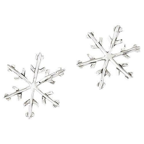 Sterling Silver Snowflake Post Earrings, Best Quality Free Gift Box Satisfaction Guaranteed - shopvistar