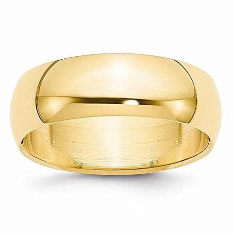 14k 7mm Half-round Wedding Band, Best Quality Free Gift Box Satisfaction Guaranteed - shopvistar