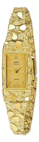 10k Champagne 15x31mm Dial Rectangular Face Nugget Watch - shopvistar