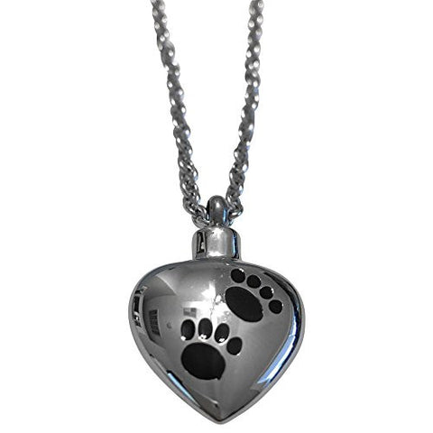 Stainless Steel Heart Ash Pendant 18 Inch Necklace - shopvistar