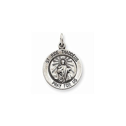 Sterling Silver Saint Jude Thaddeus Medal, Best Quality Free Gift Box Satisfaction Guaranteed - shopvistar