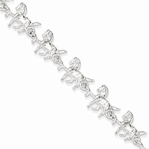 Sterling Silver Horses Bracelet, Best Quality Free Gift Box Satisfaction Guaranteed - shopvistar