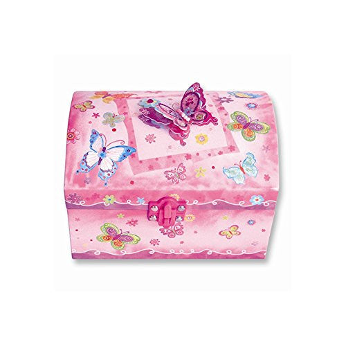 Children's Butterfly Lighted Musical Jewelry Box - shopvistar